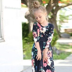 Other - Kids Floral Peasant Long Sleeve Maxi A-line Dress